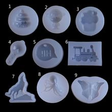 DIY Wolf Butterfly Monkey Train Pendant Silicone Resin Mold Jewelry Making Tools