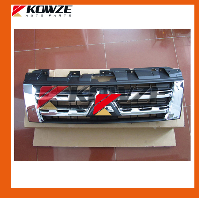 Chrome Radiator Grille for Mitsubishi Pajero Montero Shogun 4 IV 2012- New 7450A825 cawanerl for mitsubishi pajero iv v8