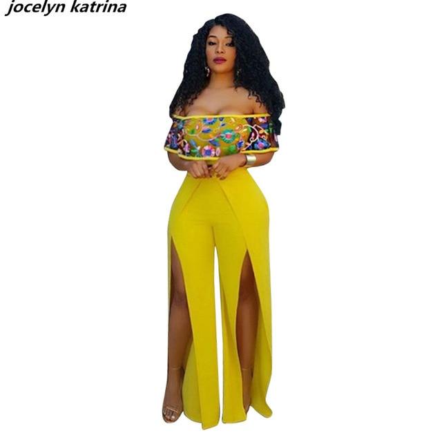 9d709b9d175a jocelyn katrina brand Fashion Straight Casual Long Jumpsuit Sexy bodycon  bandage women full length Club jumpsuit