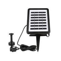 Solar Powered Fountain Water Pump,Sprinkler height 90CM1.2W 7V Energy Saving Submersible Solar Water Pumps for Garden Pond Pool