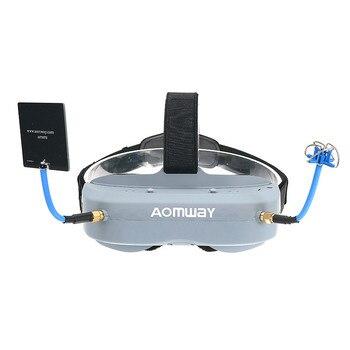 Aomway Commander lunettes V1 2D 3D 40CH 5.8G FPV Support de casque vidéo/avec DVR Headtracker