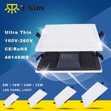 T-SUN LED Ceiling Lights lamp 2-in-1 Ultra-slim LED Square Panel Downlight Natural White 4000K Recessed Lighting for Living Room