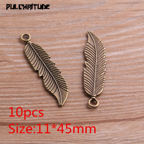 20pcs 30x9mm mixed color multicolor metal wing feather charm handmade craft jewelry making DIY finding earring necklace drop pendant SZ35