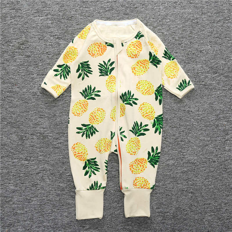 Toddler Baby Boys Bodysuit Short-Sleeve Onesie I Love Fries Print Outfit Winter Pajamas