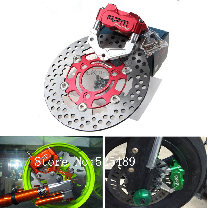 RPM Brand CNC Motorcycle Brake Calipers Brake Pumps+Brake Caliper Adapter Bracket +200mm/220mm Disc Set For Yamaha BWS Aerox RSZ keoghs motorcycle brake disc brake rotor floating 260mm 82mm diameter cnc for yamaha scooter bws cygnus front disc replace