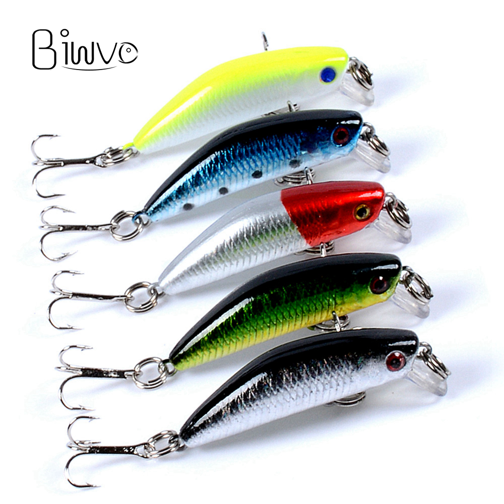 Biwvo Lure Minnow Sea Bait Squid Jigs Shad Spinner Bait Small Fishes 2.5cm 7.5cm Wobbler Goods For Fishing Hard Tinsel Jigging