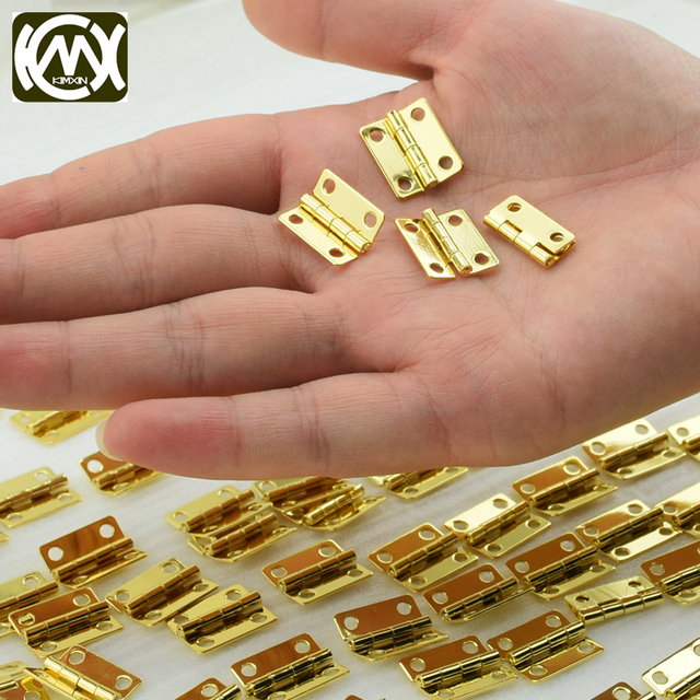 50pc In stock 4 hole small metal hinges Mini hinge Small wooden box