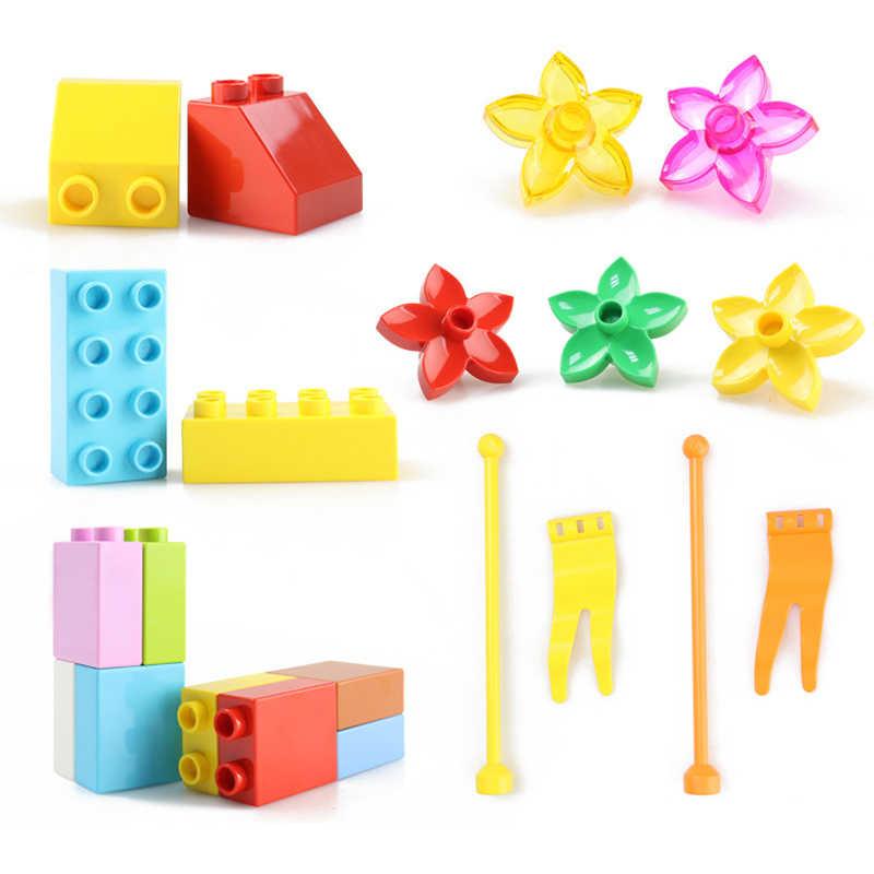 Большой размер DIY строительные блоки Совместимые LegoINGlys Duploed самодельные фигурки элементы конструктора блоки аксессуары игрушки для детей