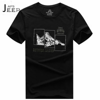 Afs jeep المطبوعة موضة مصمم مان يا الرقبة البلوز تي شيرت ، الصيف الذكور السفر الضرورية خارج ارتداء ، نوعية جيدة تعزيز تيز