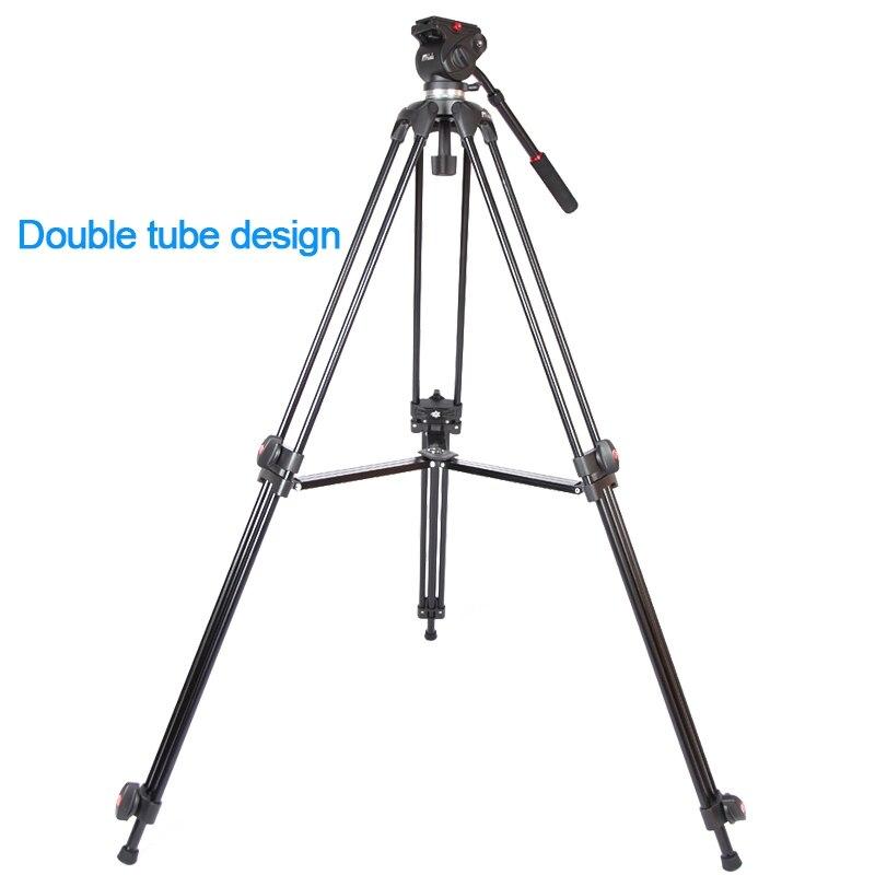 JIEYANG JY0508 JY-0508 JY0508B Professionnel trépied de caméra trépied vidéo/Dslr Trépied Tête Fluide D'amortissement vidéo avec sac pour trépied - 4