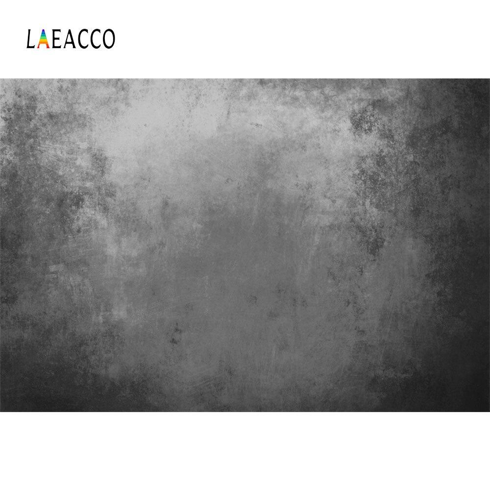 Laeacco Solid Grey Gradient Wall Baby Children Portrait Scene Photography Backdrop Seamless Photographic Photo Studio Background