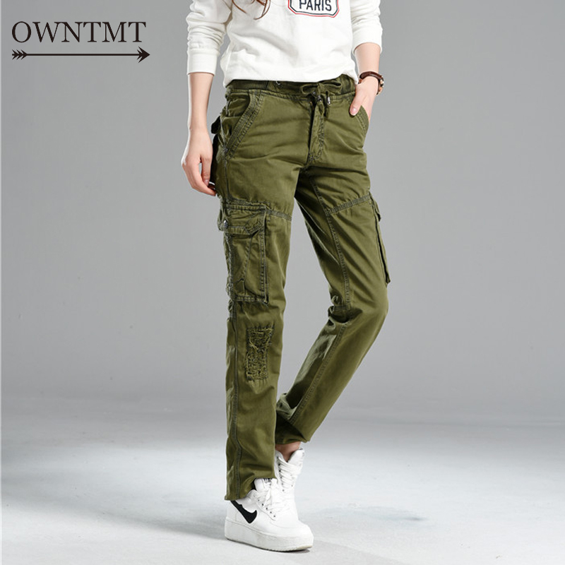 6e871dcd4f7 Joggers Pant Womens Cargo Pants Military Style Casual Hip Pop Trousers  Military Pantalon Homme Tactical plus size ...