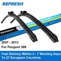 Car Wiper Blade For Peugeot 308 30 26 Rubber Bracketless Windscreen Wiper Blades Wiper Blades Car