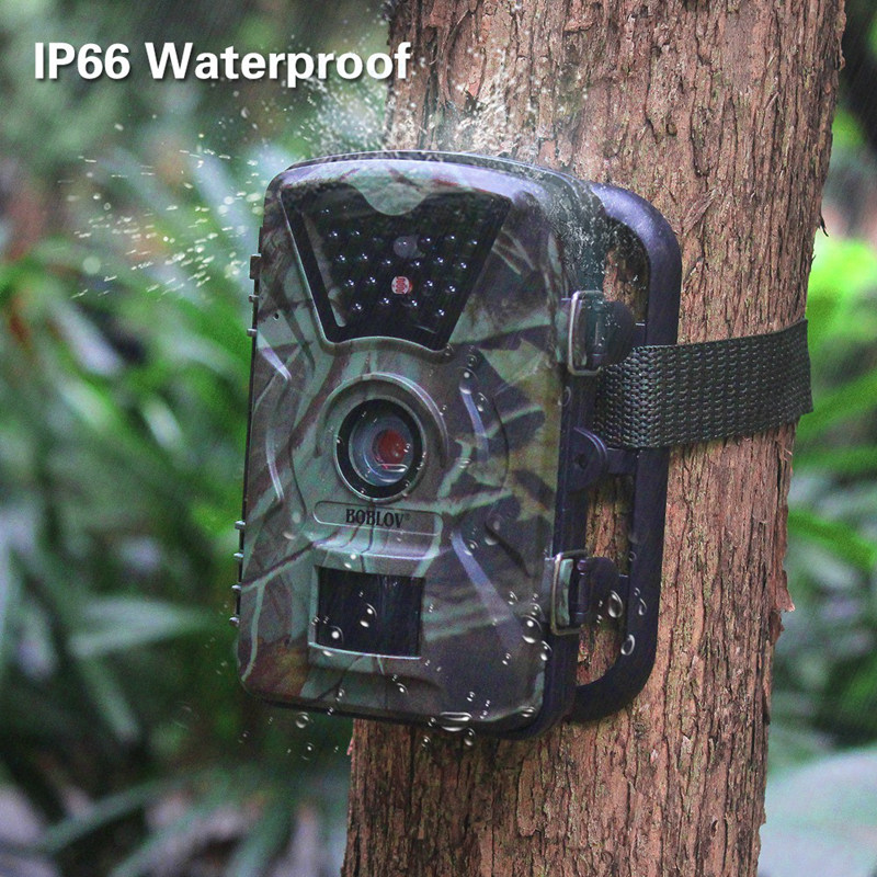 CT008 Camouflage outdoor hunting camera HD infrared night vision waterproof hunting surveillance 20 meter distance even night 5x42 hunting night vision magnification camouflage high definition night vision telescope portable infrared camera video