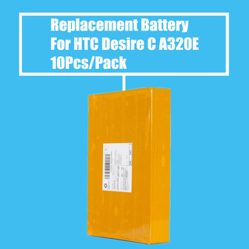 New Arrival 10pcs/Pack 1230mah Replacement Battery for HTC Desire C Golf A320E High Quality