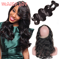 7A Lace 360 Peruvian Virgin Hair Body Wave 360 Lace Frontal With Bundle Peruvian Body Wave Lace Frontal 360 Closure With Bundles