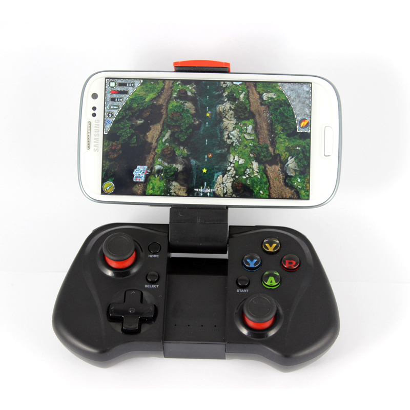 Bluetooth 3.0 Wireless Game Controller Gamepad with Telescopic Stand for 6 Inch Phones Game Joysticks for Android TV/TV Box PC