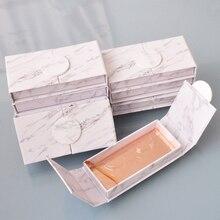 100pcs wholesale false eyelash packaging box lash boxes customize your logo fake 3D mink lashes folio marble magnetic case empty