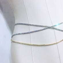 Gold Color Crystal Sexy Women's Belly Waist Chain