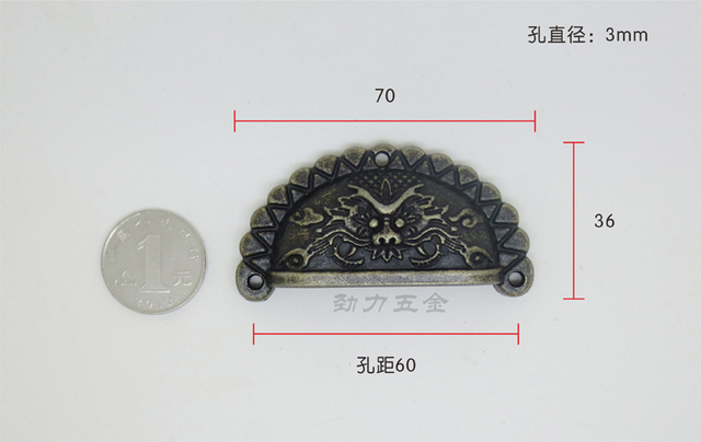 Hardware Home Hardware Antique handle semicircle semicircular handle faucet pull handle shells hands
