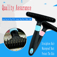 Safe Stainless Steel Dog Nail rake Comb Hair Profession Durable Dogs Grooming Comb Profissional Pets Tools Care Produts 70Z1349