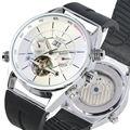 Мужские часы Tourbillon автоматические механические часы календарь прочный силиконовый ремешок нержавеющая сталь Скелет циферблат бизнес