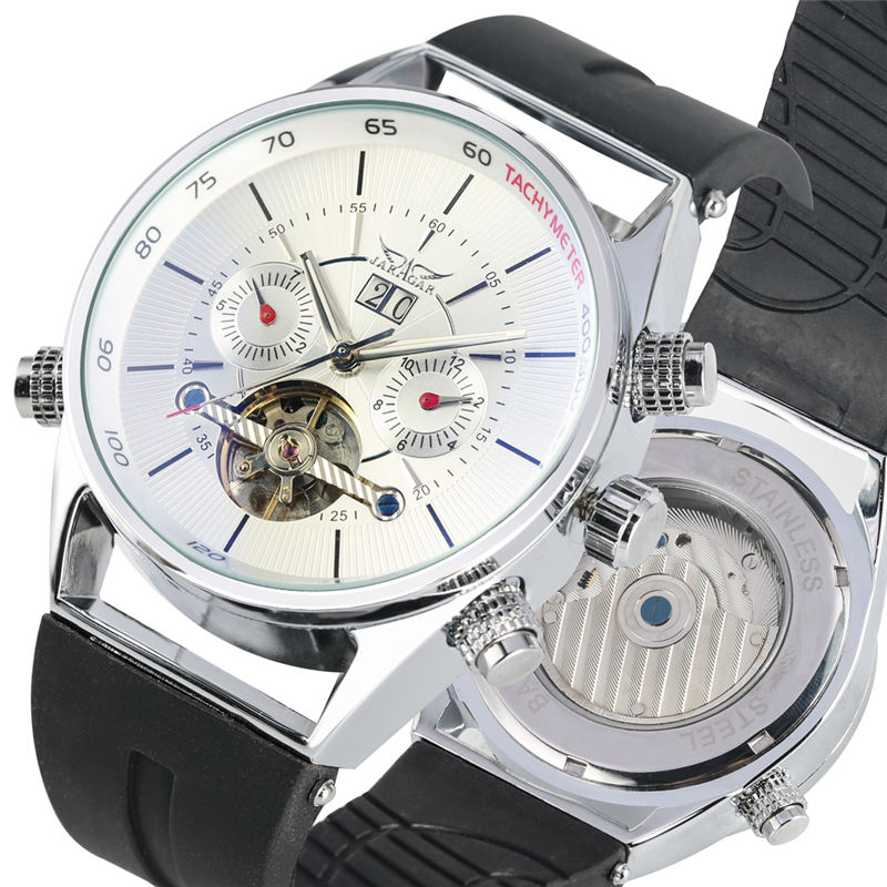 Tourbillon Men Watch Luxury Automatic Mechanical Watches Durable Silicone Strap Stainless Steel Skeleton Dial Calendar montreTourbillon Men Watch Luxury Automatic Mechanical Watches Durable Silicone Strap Stainless Steel Skeleton Dial Calendar montre