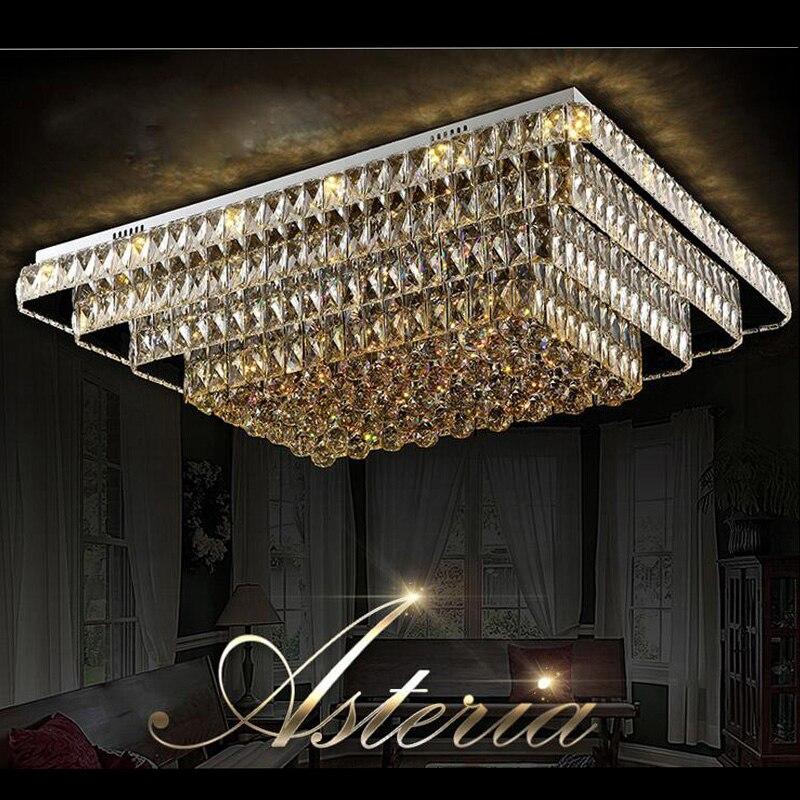 T New Luxury Crystal Lamps Rectangular Modern Lightings For