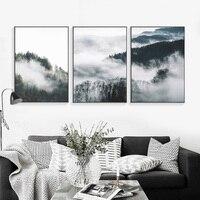 Wald Poster Nordic Dekoration Leinwand Malerei Kunst Cuadros Decoracion Poster Und Drucke wand bilder für wohnzimmer Unframed