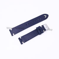 CARLYWET 20 22mm New Wholesale Handmade 3mm Thickness Leather Smooth Blue VINTAGE Wrist Watch Band Strap