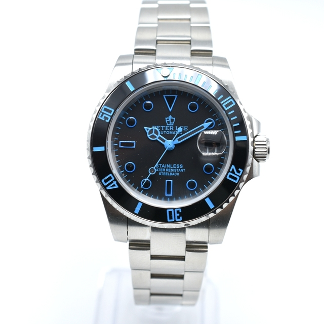 PETER LEE High Quality Full Steel Automatic Mechanical Men Watch Brand Luxury Watch Classic Men Fashion Business Male Clock Gift