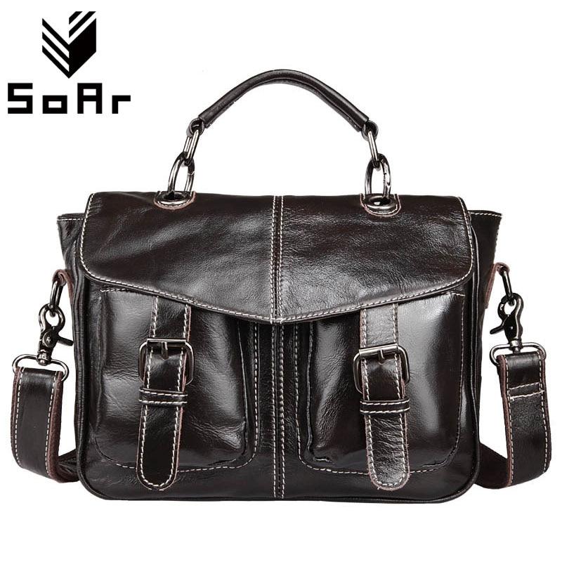 SoAr Travel Bag Business Men Bag Shoulder Messenger Bags G Genuine Leather Briefcases Laptop Male Handbags Totes High Quality