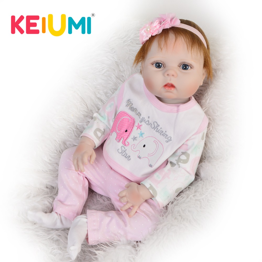 Clearly Real bebe 23 Reborn Baby Girl Dolls Full Silicone Body Washable Lovely Baby Doll Toys For Kids Birthday Gifts KEIUMIClearly Real bebe 23 Reborn Baby Girl Dolls Full Silicone Body Washable Lovely Baby Doll Toys For Kids Birthday Gifts KEIUMI