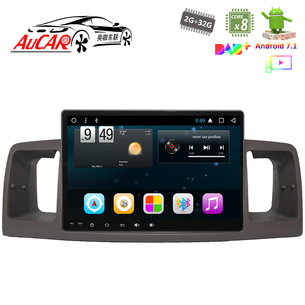 Android 8,1 9 gps навигационная система для Toyota Corolla EX 2007 2012 dvd плеер AUX Bluetooth gps радио WI FI 4G стерео