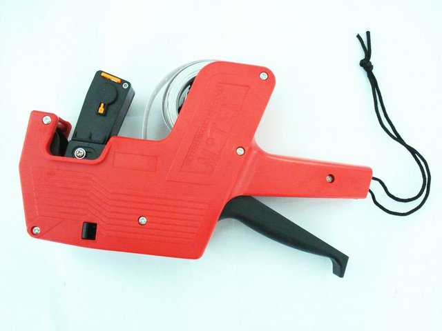 100% Guarantee 1pc Red Price Label Tag Marker Pricing Gun Labeller Red  Free Shipping Drop Shipping