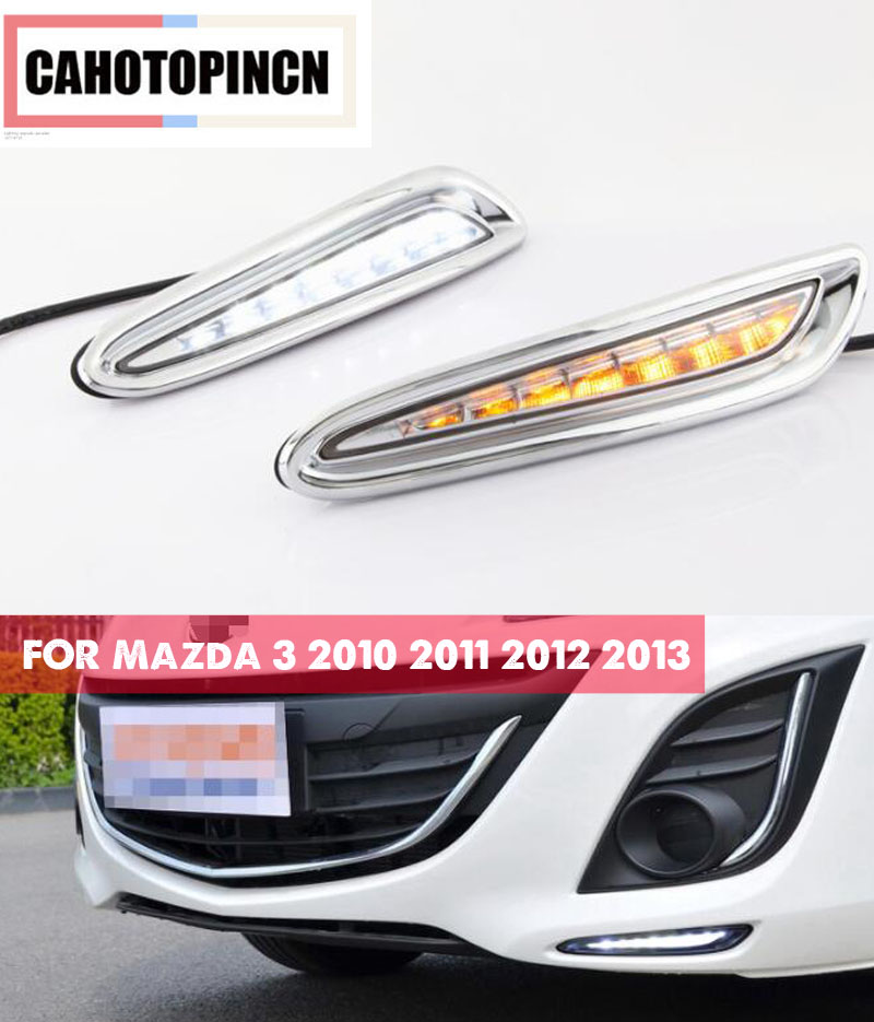 DRL For Mazda 3 Mazda3 2010 2011 2012 2013 LED Daytime Running Lights Daylight fog lamp