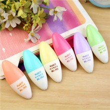 6 pcs/lot Mini leaf Highlighter Cute colors Animal Drawing Painting Art Marker Pen School writing supplies stationery gift