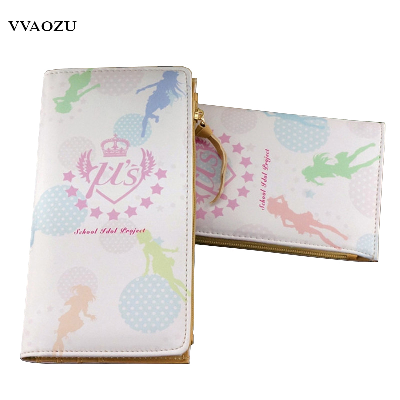 New Lovely Japanese Anime Long/Short Two Styles Wallet Love Live Cartoon Zipper Wallets Card Holders Purses new love live cosplay shoes sonoda umi lonelive anime party boots custom made