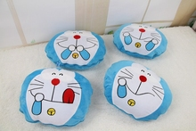 Plush blanket 1pc 160cm funny face Doraemon round air conditioning car office rest cushion stuffed toy creative gift for baby