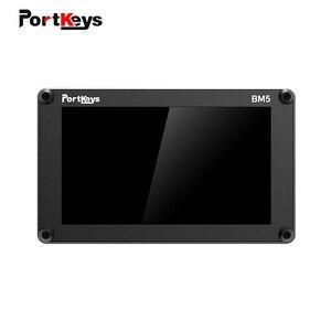 Portkeys bm5 ii 2200nit 3g sdi/hdmi super brilhante tela de toque controle da câmera fhd no monitor da câmera