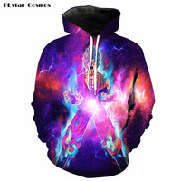 PLstar Cosmos 2017 new Anime Dragon Ball Z 3D hoodies galaxy Space Goku/Vegeta print hoody Pullovers Women Men Tracksuits R4119