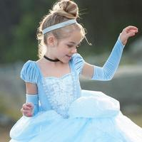 Girls Dress Cartoon Cosplay Snow Queen Princess Dresses Party Anna Costume Baby Children Clothes Kids Clothing