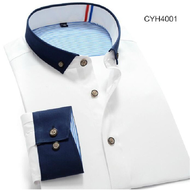 Men  Fashion Casual  long  sleeve  shirt    L  XL  XXL