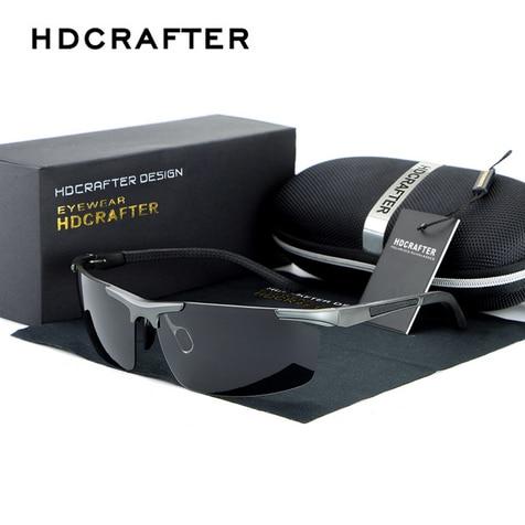 0813cc29750 HDCRAFTER Men Polarized Sunglasses Men Night Driving Glasses Driver Driving  Mirror Versatile Night Vision Sun Goggles 88530-in Sunglasses from Men s ...