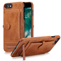 BRG Phone Cases For IPhone7 7Plus Luxury Leather Card Slot Holder Stand Cover For IPhone6 6S