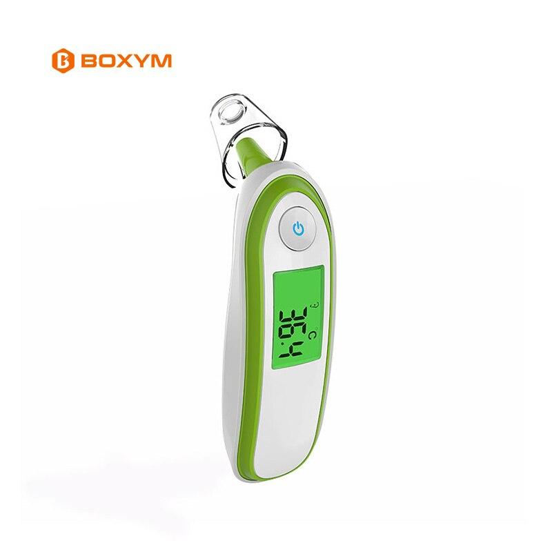 BOXYM médica Digital infantil termómetro infrarrojo bebé frente del oído termómetro de la fiebre alarma con niños y adultos CE aprobado