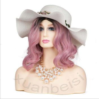 Female Realistic Fiberglass Mannequin Head Bust Sale For Wig Jewelry Hat Earring Display Dolls  High Grade Dummy Manikin Head
