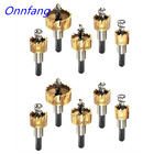 Onnfang 5Pcs HSS Drill Bit Carbide Tip Saw Set Metal Drilling Hole Drill Cut Tool Metal Drill Holes Set