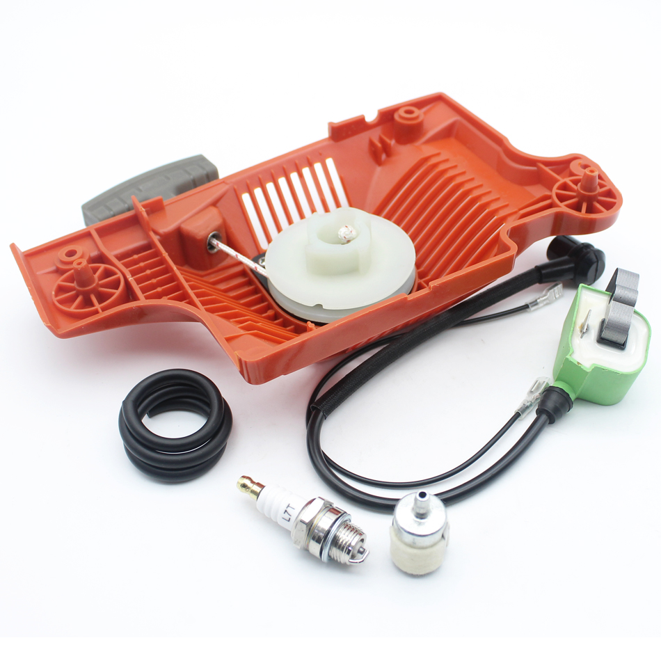 51 Starter Recoil Spark Fuel Ignition Coil 55 Spare Plug Parts 50 Rancher Pull Chainsaw Filter Hose HUSQVARNA For