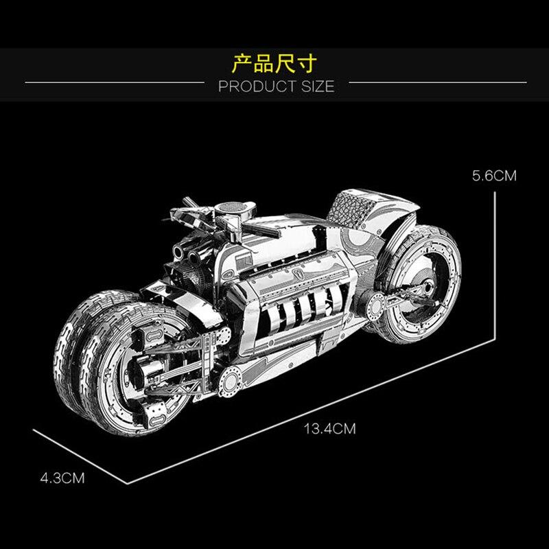 2018 Nan yuan 3D Metal Puzzle Concept Motorcycl DIY Laser Cut Puzzles - Juegos y rompecabezas - foto 4